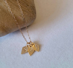 Rhombus INITIAL Necklace