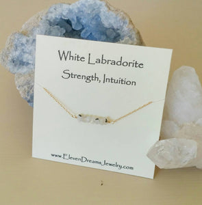 INTUITION White Labradorite Necklace