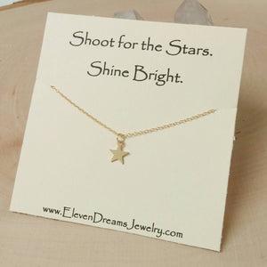 """Shine Bright"" Star Necklace"