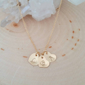 Personalized Heart Initial Charm Necklace