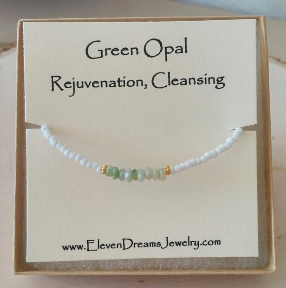 REJUVENATION Green Opal Bracelet