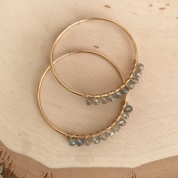 GEMSTONE Sophia Hoops - Large