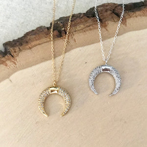 Crescent Sparkles Necklace