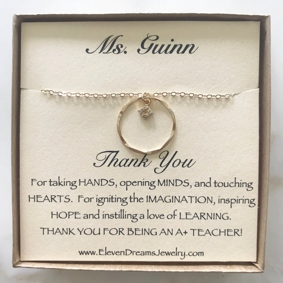 Teacher Appreciation Sparkle Necklace