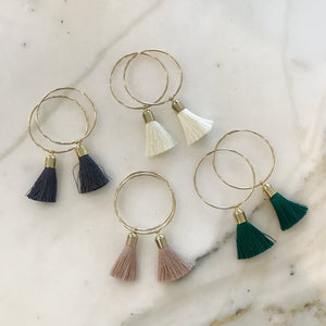 Large Tassel Hoops