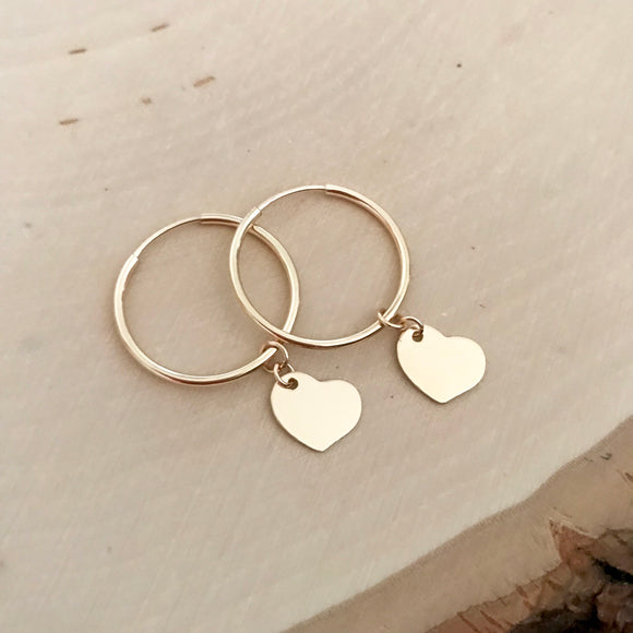 Sophia Heart Hoops