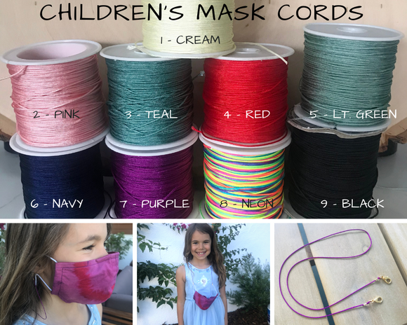 3 PACK - Children's Mask Cord