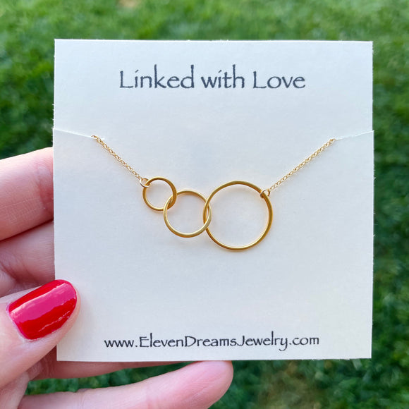 Triple Linked with Love Necklace