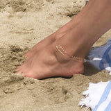 LOVED Heart Anklet