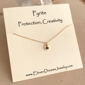 Bella PROTECTION + CREATIVITY Pyrite Necklace