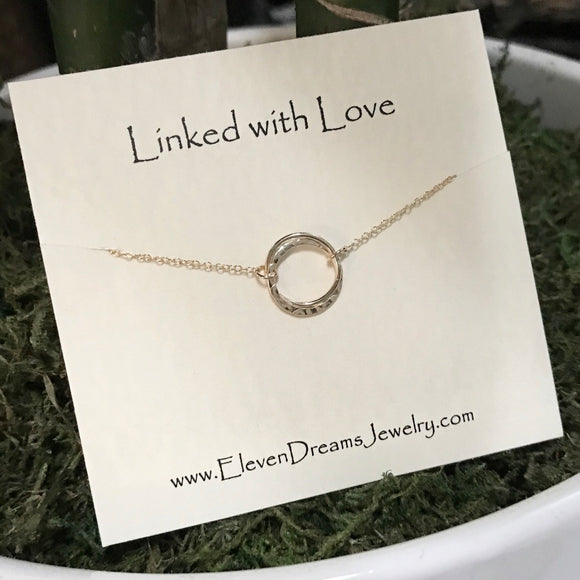 LINKED WITH LOVE Interlocked Circle Necklace