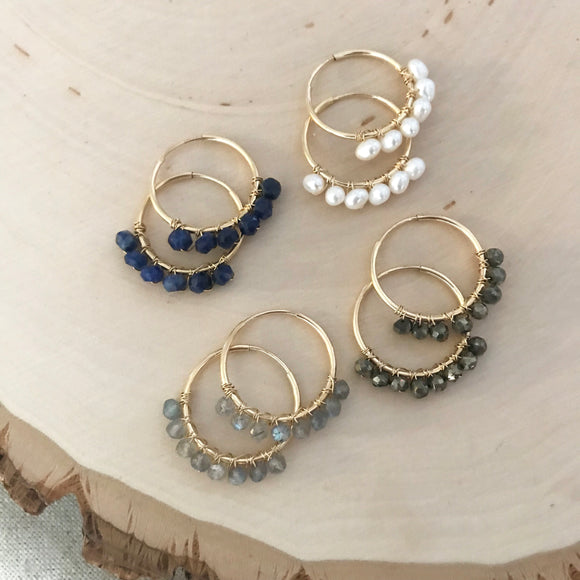 GEMSTONE Sophia Hoops - Medium