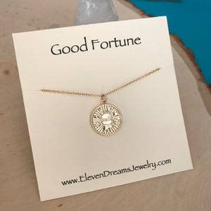 GOOD FORTUNE Pendant Necklace