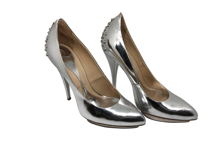 McQueen Silver Studded Shoes