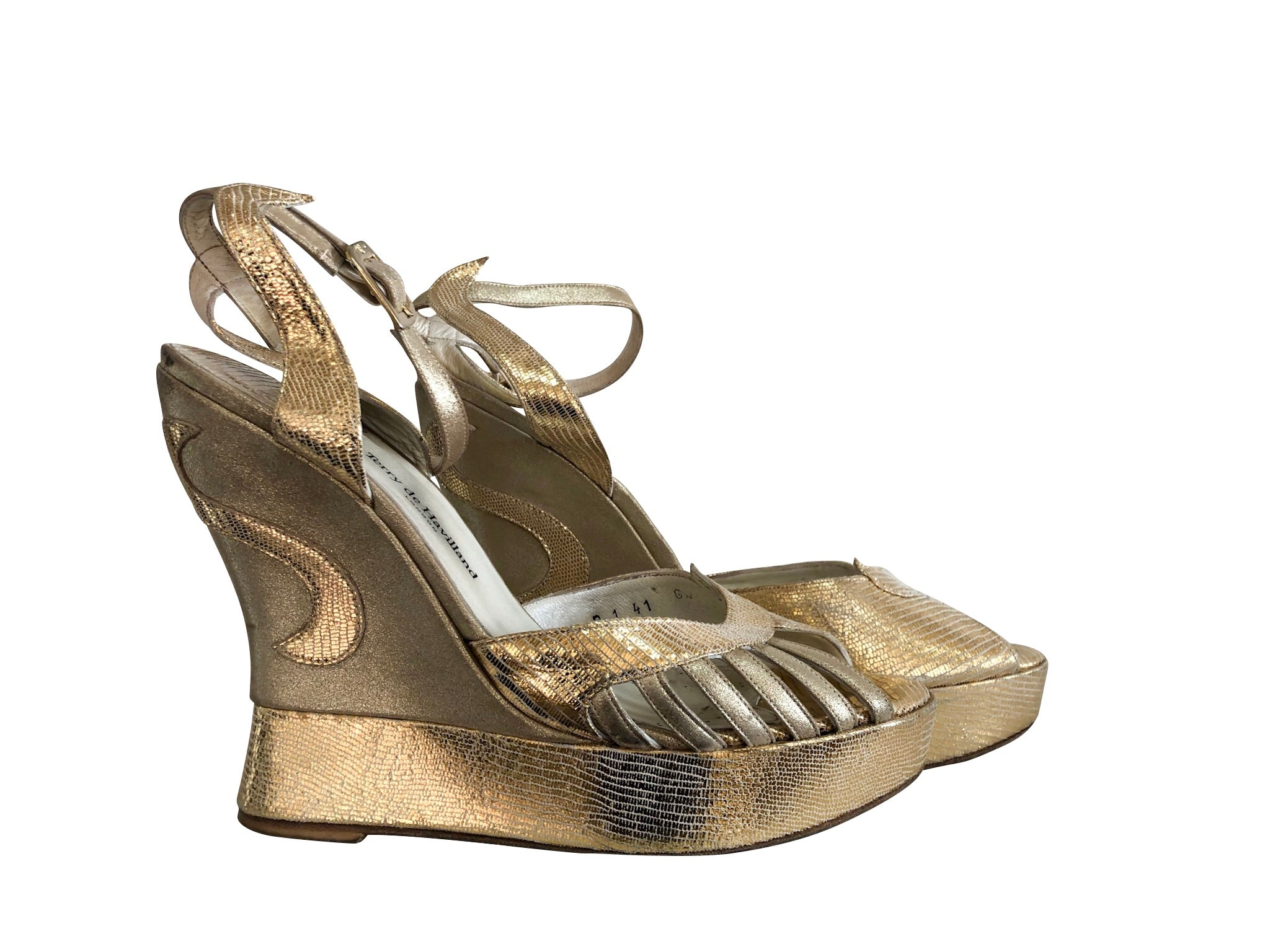 Gold Terry de Havilland Wedges