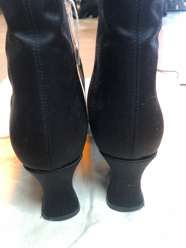 By Far Black Satin Boots