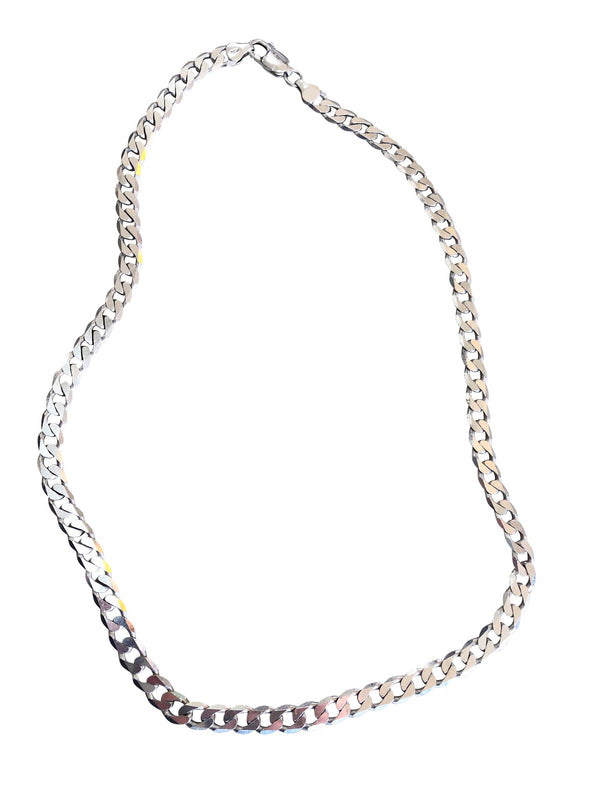 Vintage Silver Thick Chain