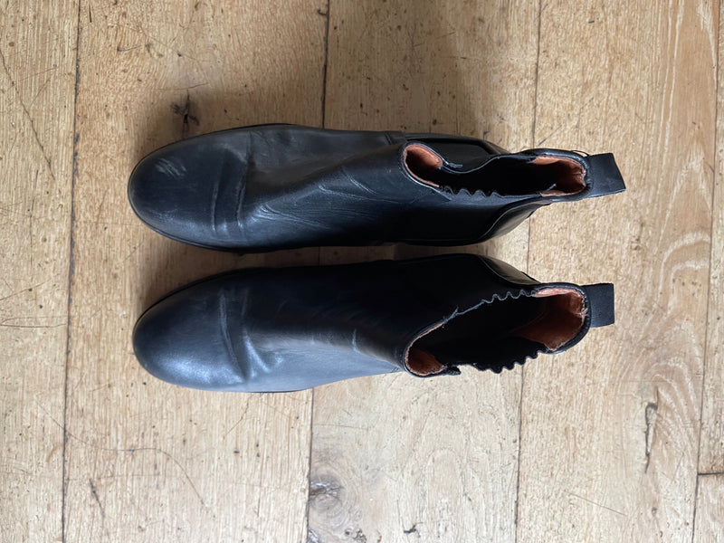Whistles Black Leather Chelsea Boots
