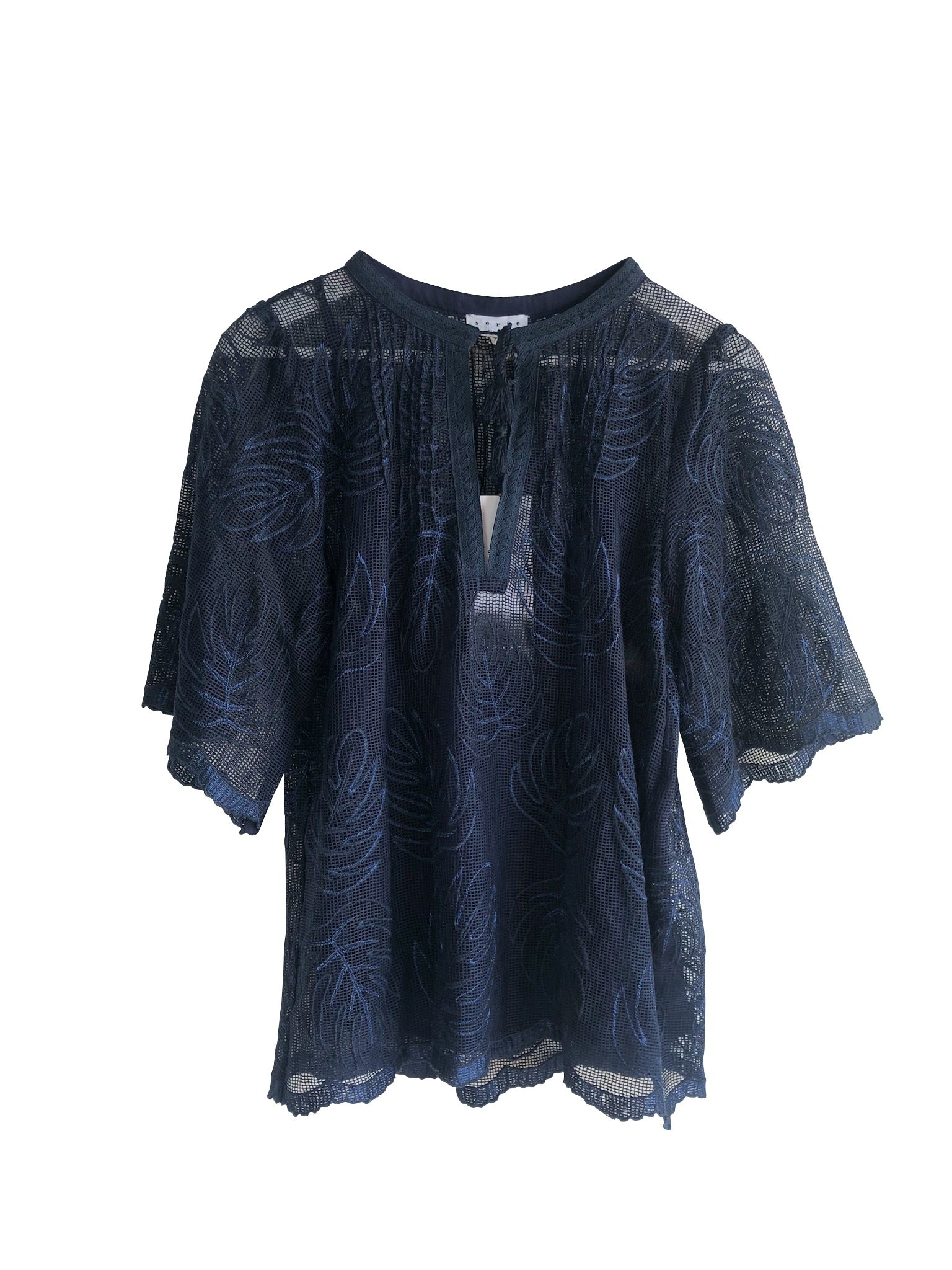 Suncoo Leaf Print Top - NWT