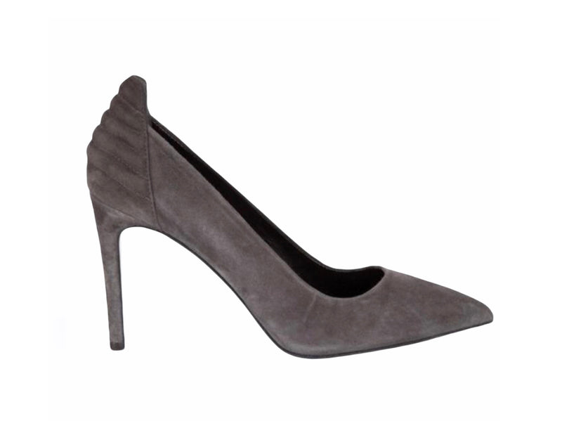 Maje Grey Suede Heels - new