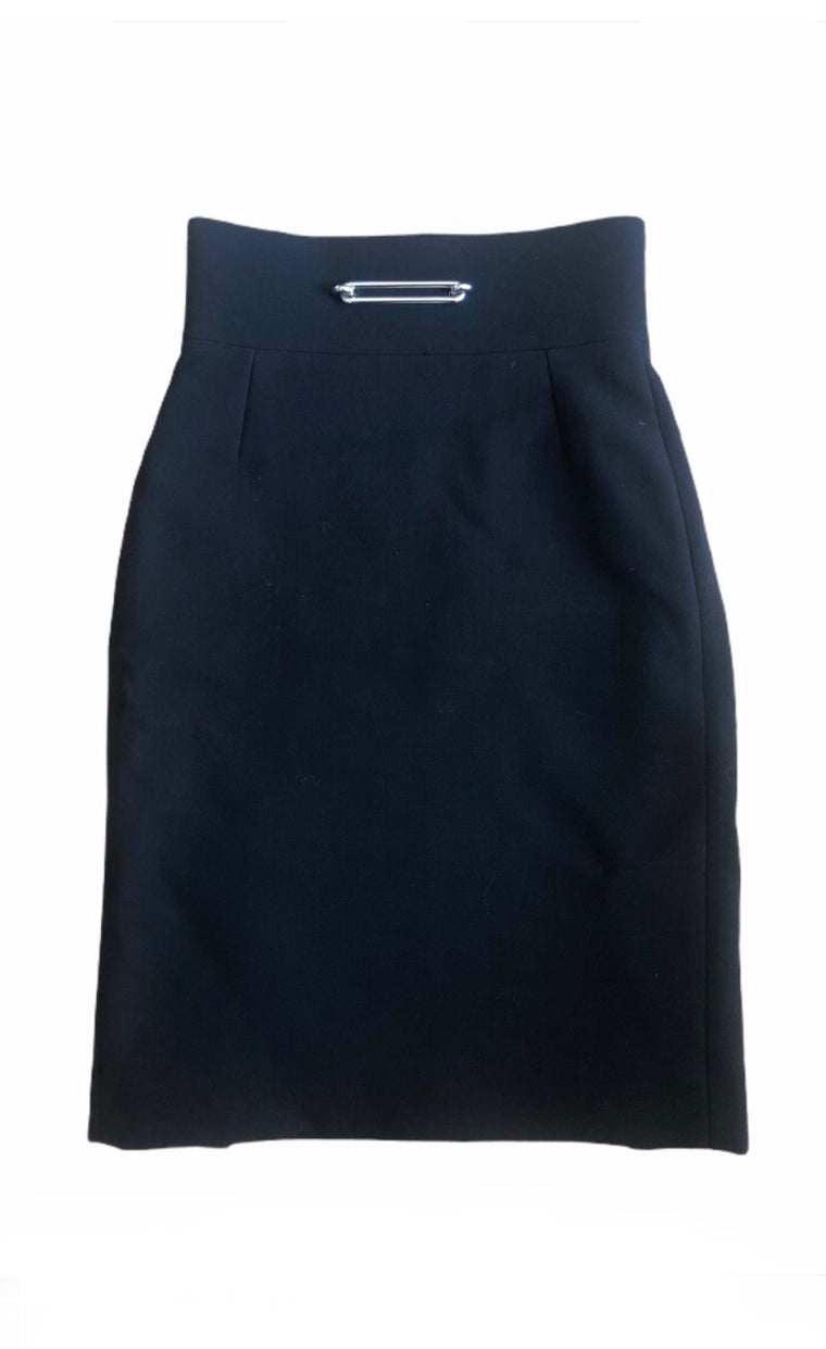 Balenciaga Black Pencil Skirt