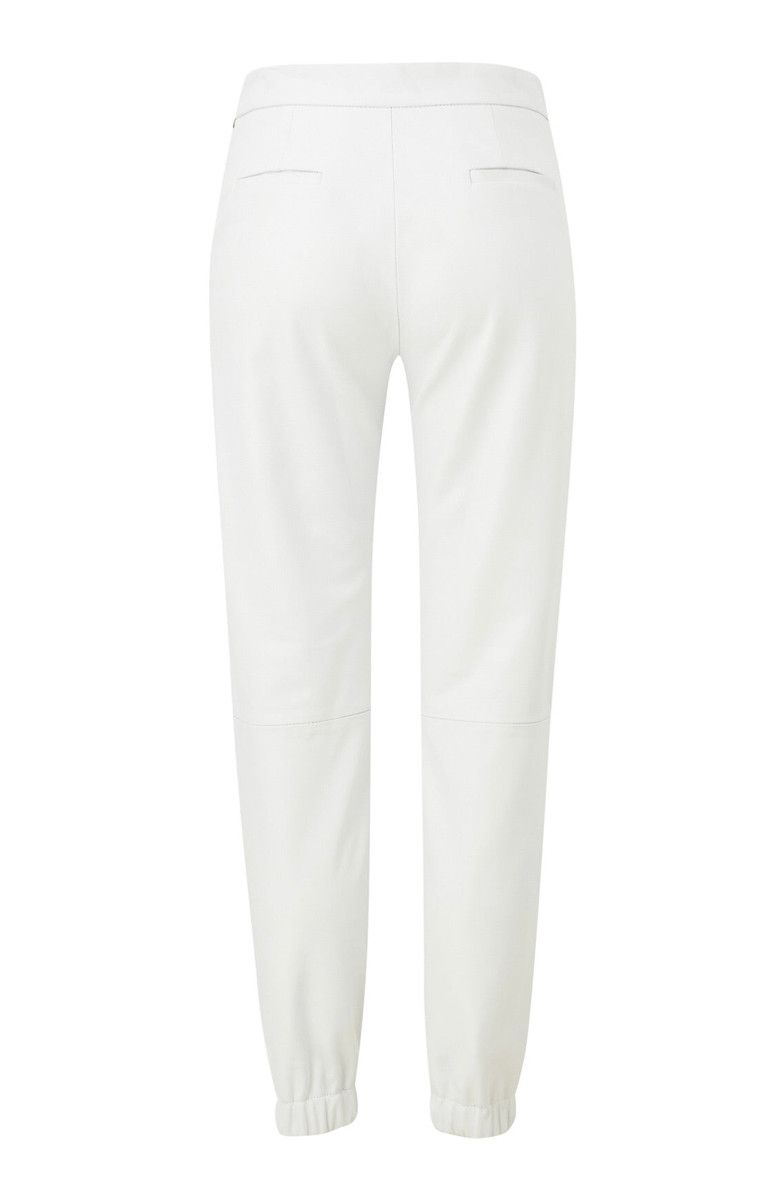 Amanda Wakeley Off White Leather Cuff Pants - nwt