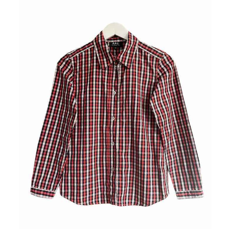 A.P.C Checked Cotton Shirt