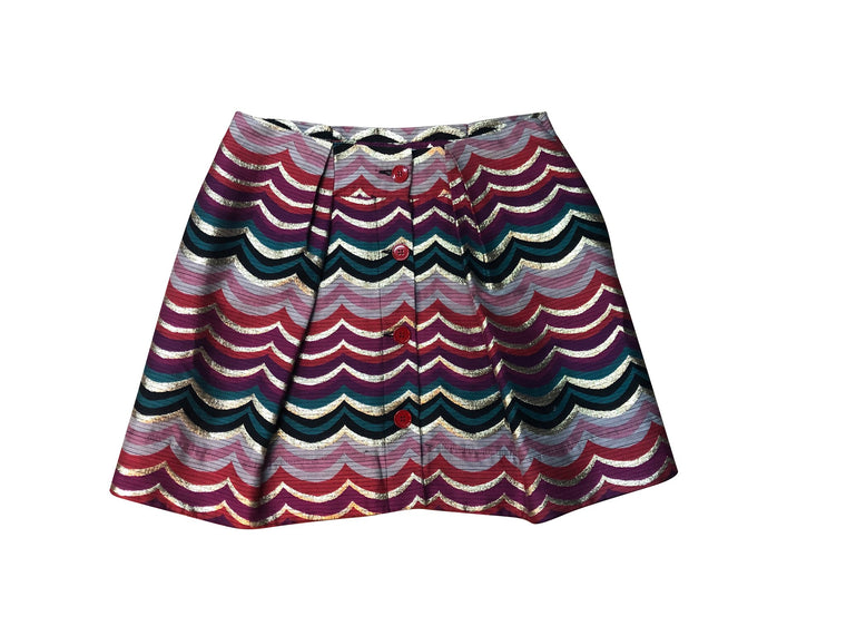 See By Chloe Gold Rainbow Skirt