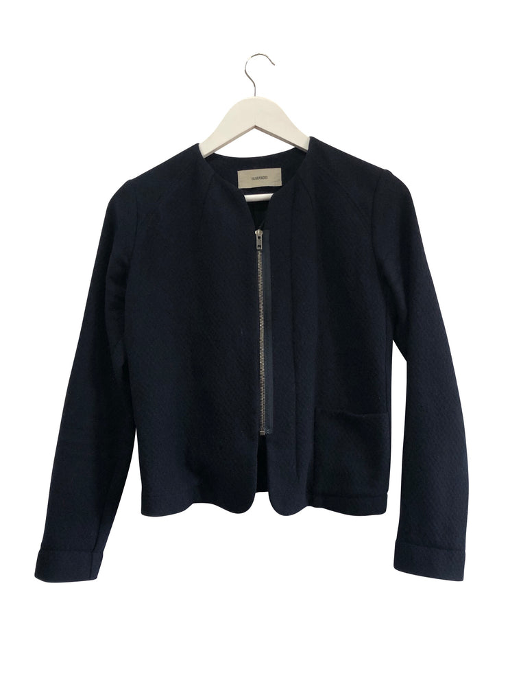 Humanoid Lightweight Wool Navy Jacket