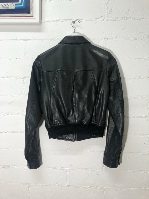 Topshop Boutique Black Leather Jacket