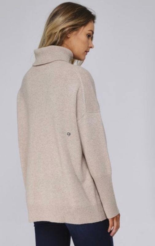 Chinti and Parker Cashmere Oversized Polo Jumper