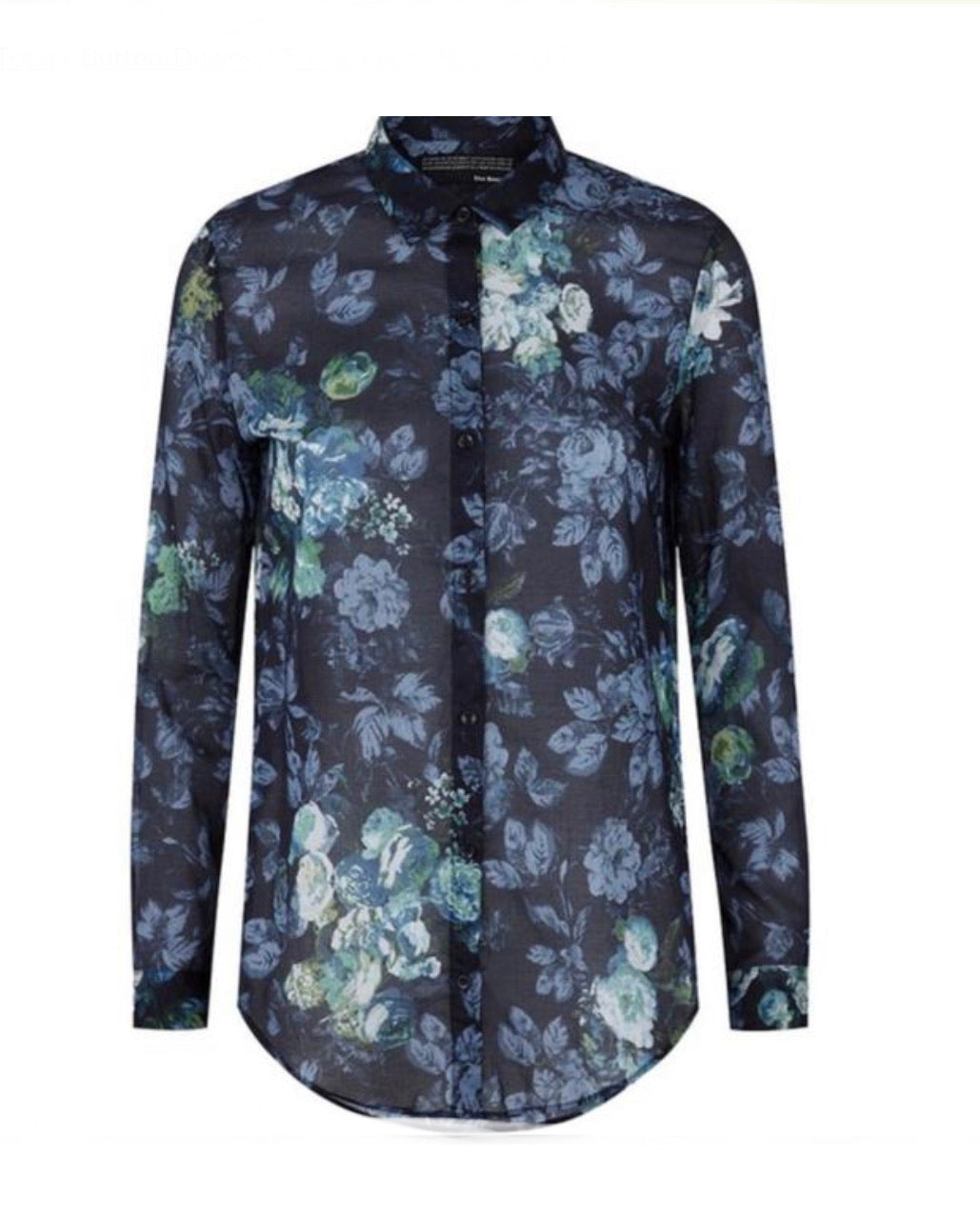 The Kooples Blue Cotton Floral Blouse