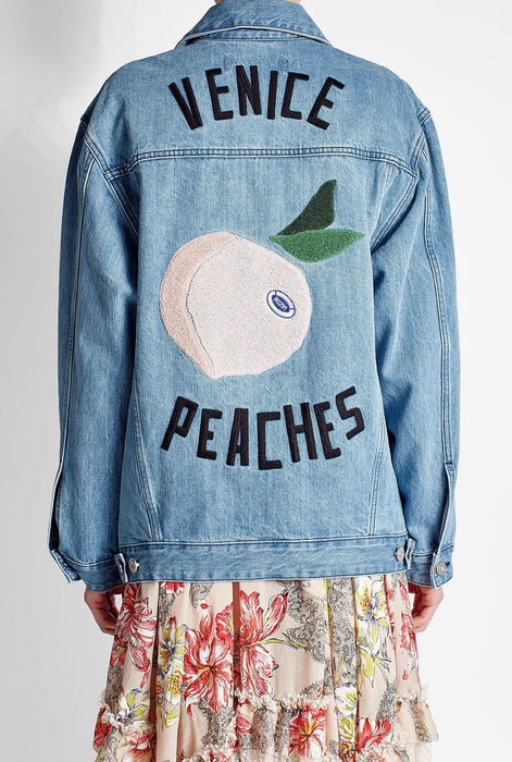 Etre Cecile Venice Peaches Denim Jacket-reserved