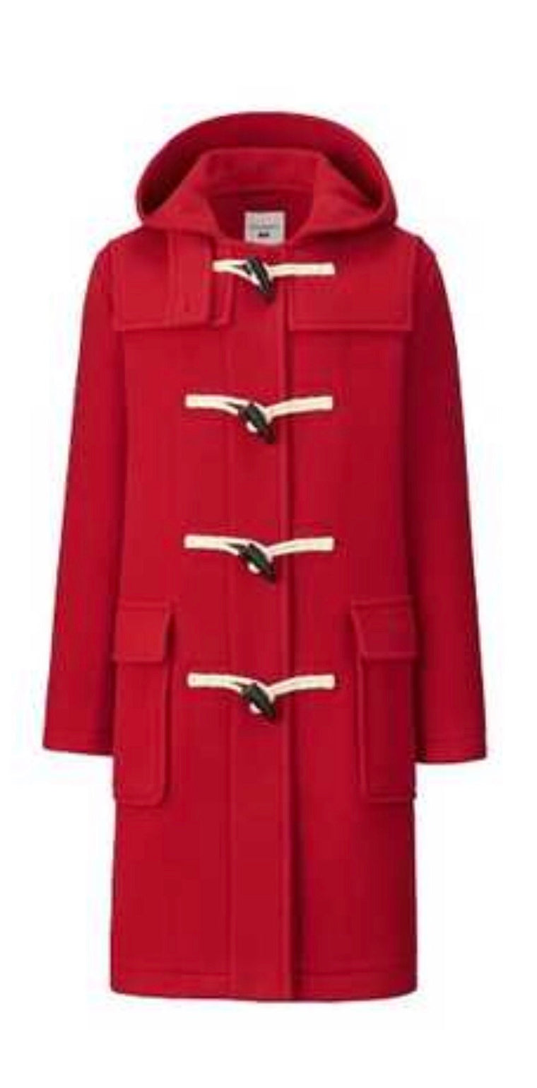 JW Anderson for Uniqlo Red Duffle Coat - NWOT