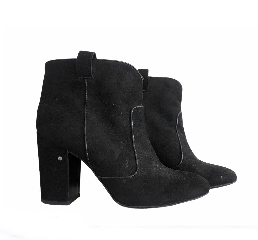 Laurence Dacade Black Suede Ankle Boots