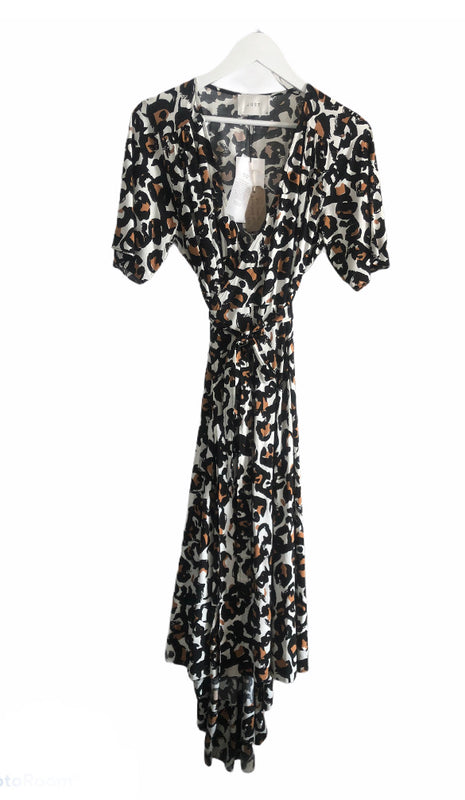 Just Female Leopard Wrap Dress