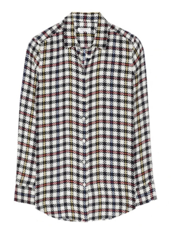 Equipment Silk Check Shirt