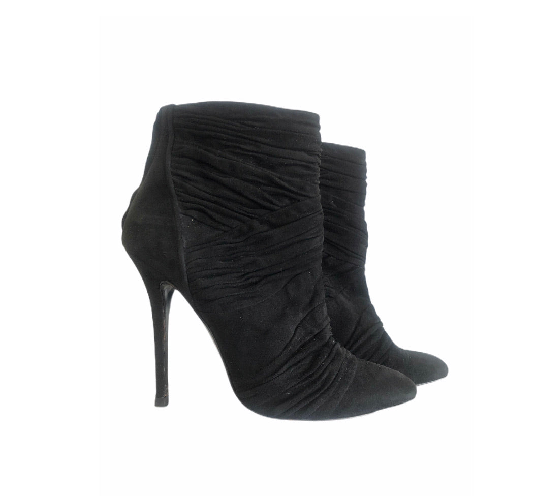 Giuseppe Zanotti for Balmain Black Suede Ankle Boots