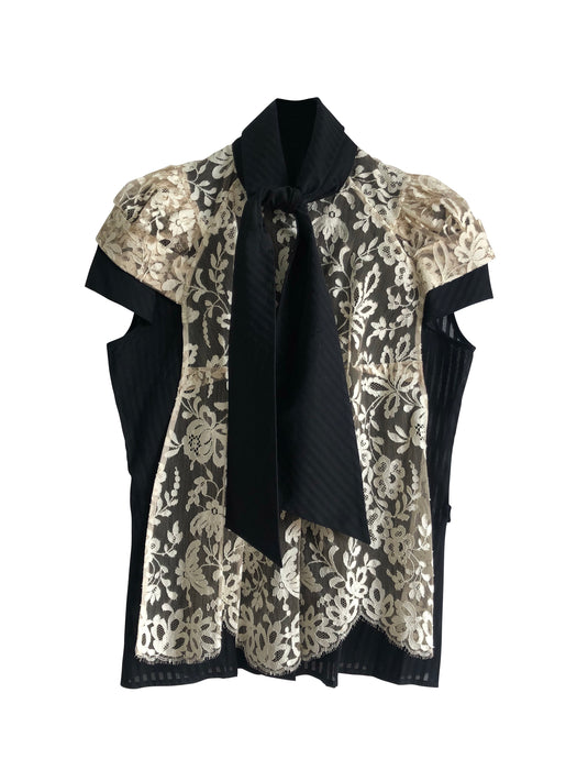 Boudicca Lace Tie Neck Blouse