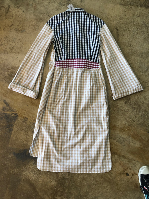 Teija Gingham Bell Sleeve Dress