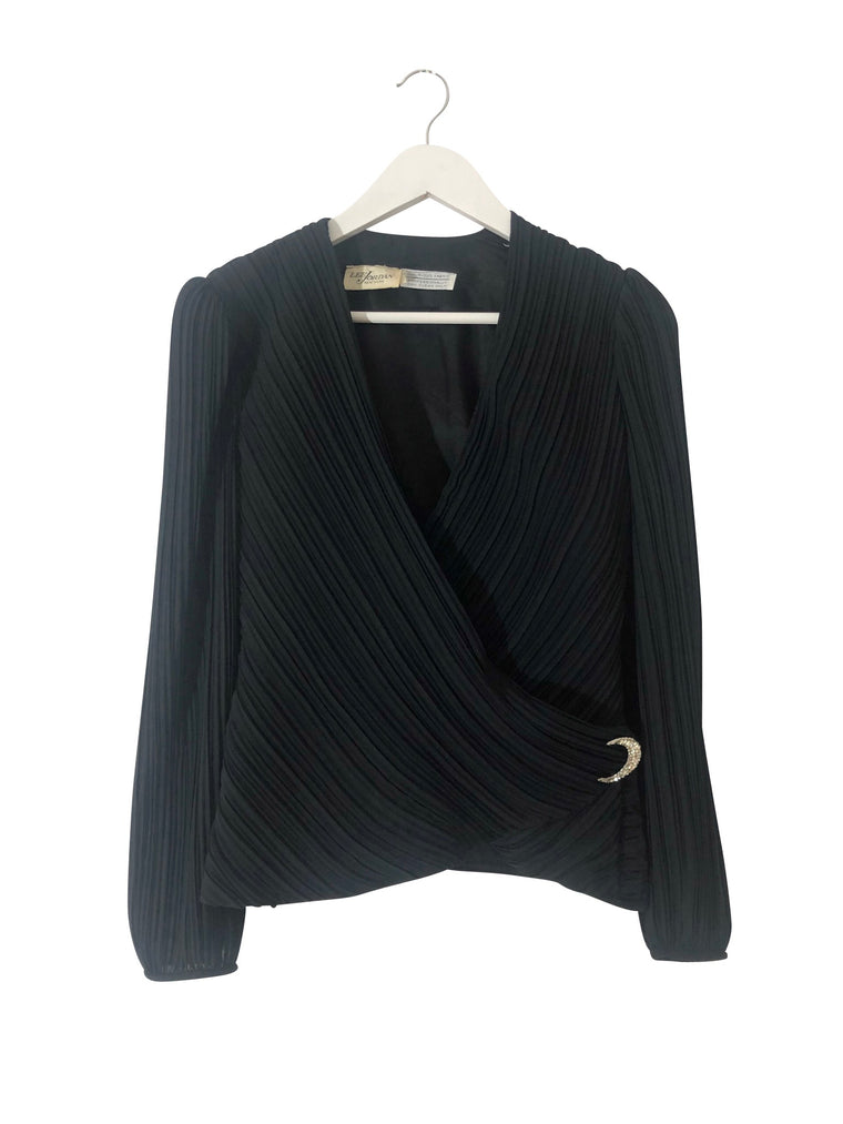 Vintage Lee Jordan New York Pleated Evening Top