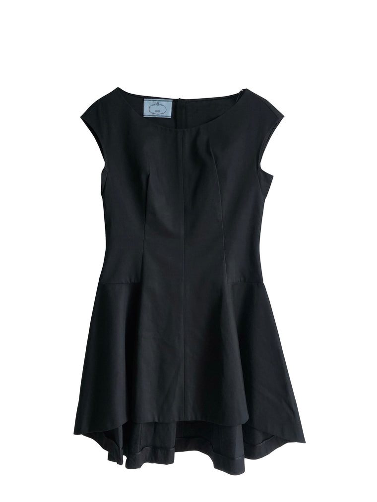 Prada Black Dip Hem Dress
