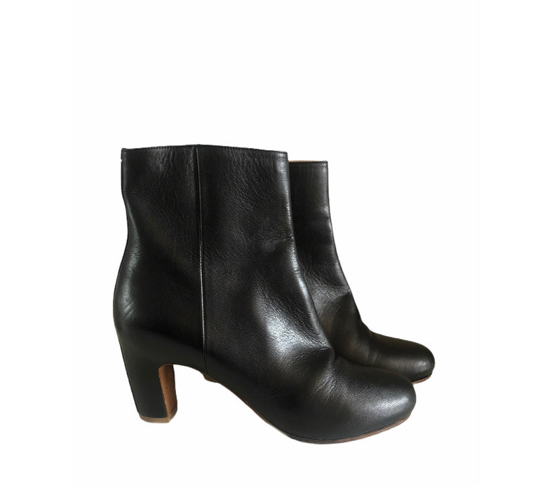 Maison Margiela Black Leather Ankle Boots