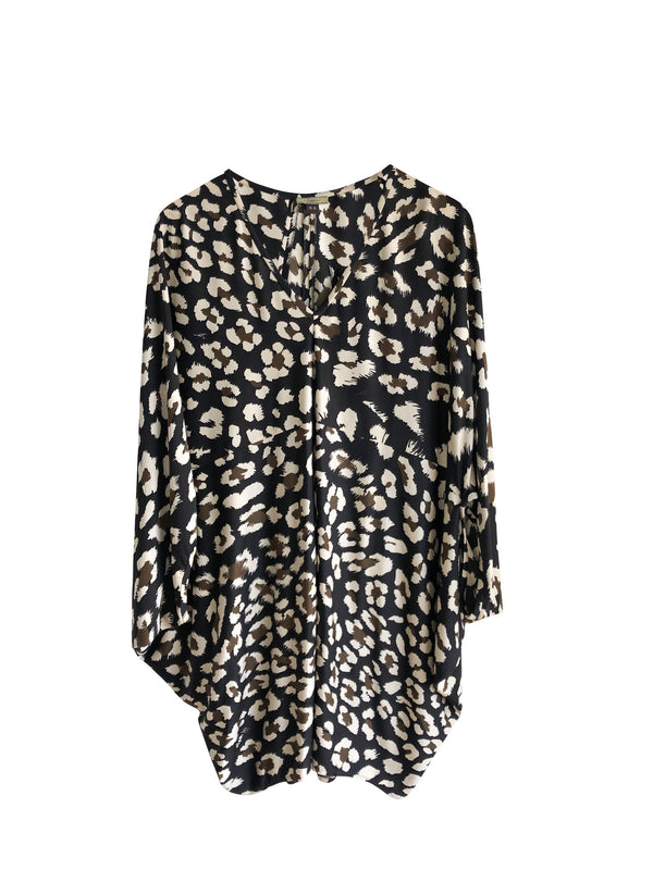 Issa Leopard Mini Dress/Oversized Top