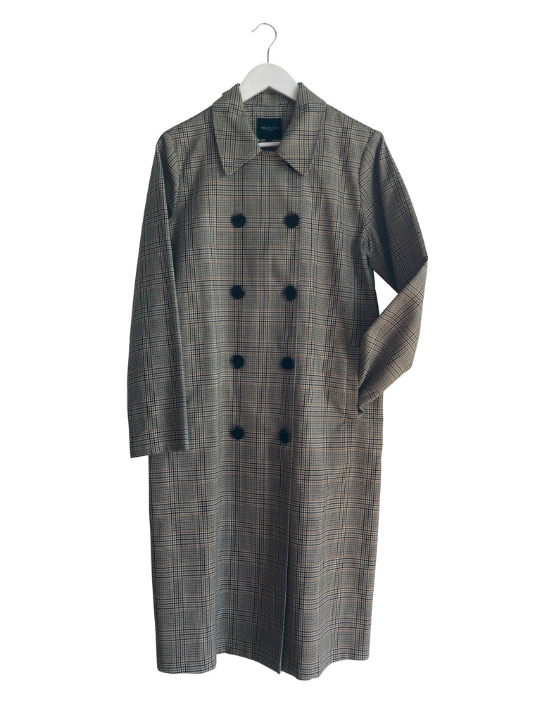 Selected Femme Check Coat - nwt