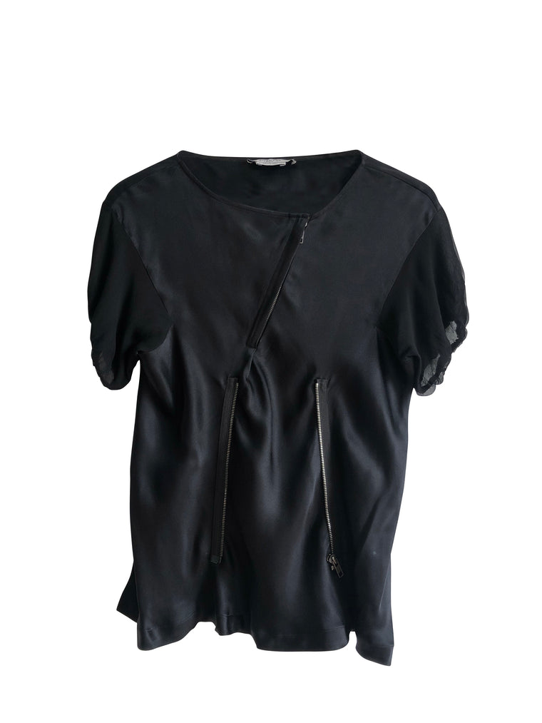 Givenchy Black Zip Blouse