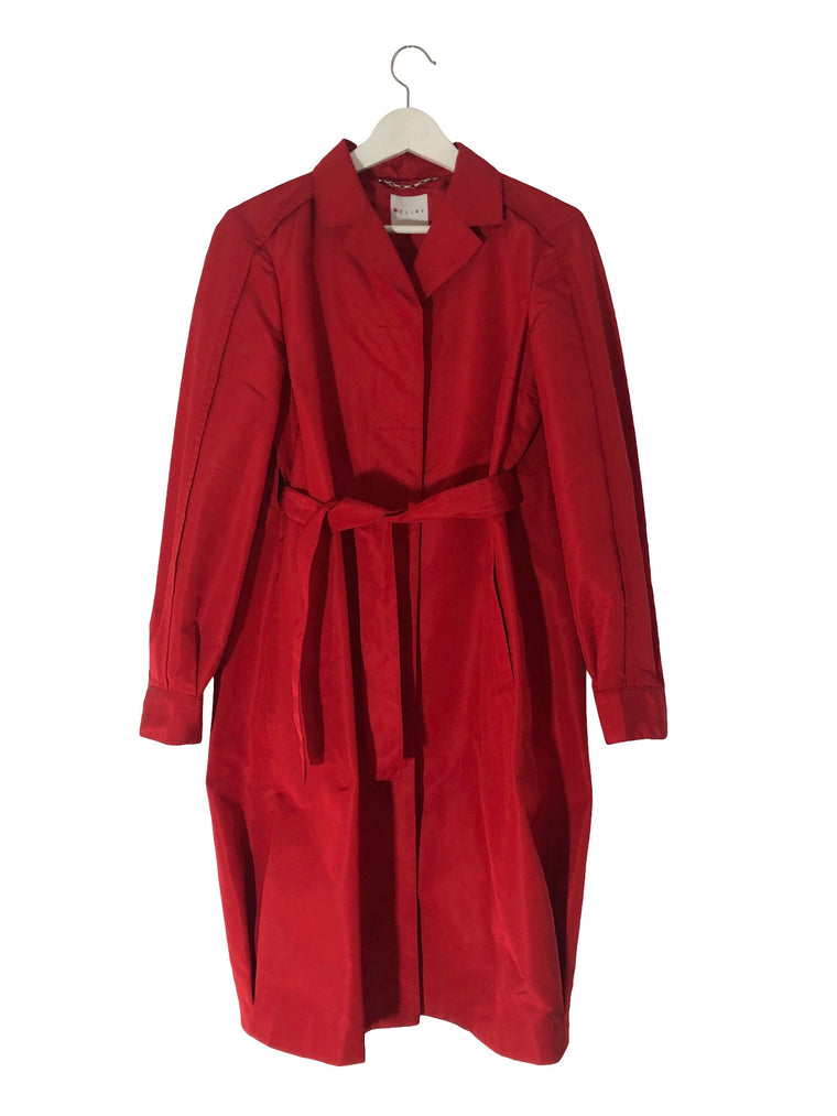 Celine Red Silk Coat