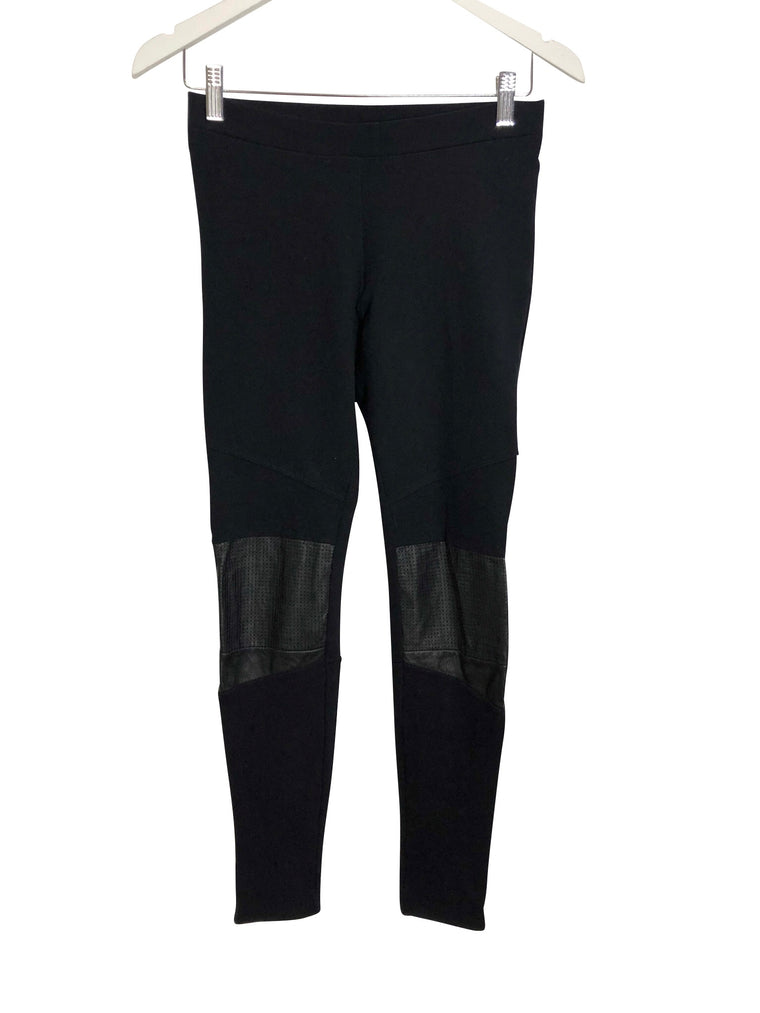 Sandro Leather Patch Leggings