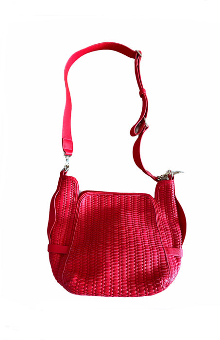 Essentiel Antwerp Red Basket Weave Shoulder Bag - NWT