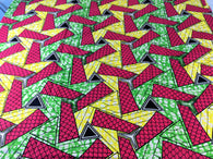 Fabric by the yard, Africa Fabric, Ankara, Designer Fabric, Pink, Yellow, Green, and black Cotton Fabric